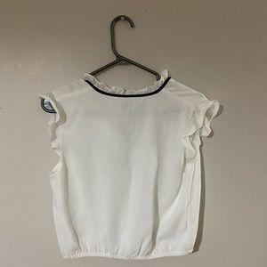 White Bebe blouse